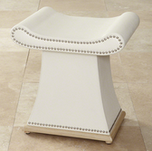 Global Views Sultan Bench in Ivory for seating or as an ottoman