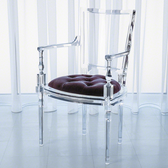 Global Views acrylic chair with lavender seat