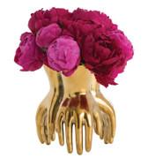 A golden piedmont vase from Arteriors.