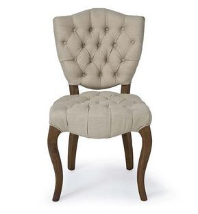 traditional vintage linen luxury dining chair by Regina Andrew design