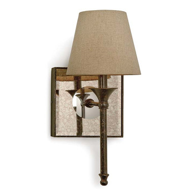 An elegant sconce to mount your lights on.