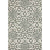 Outdoor rug with an earth moss geometric pattern for your home.