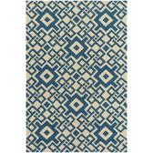 A Surya aura blue pattern rug with a modern geometric design to add some 21st century flair to your home.