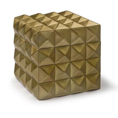 "4"" modern style gold box"