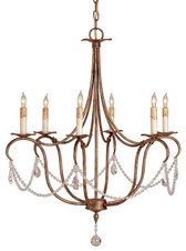 Currey & Company Crystal Lights Chandelier, Small