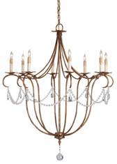 Currey & Company Crystal Lights Chandelier