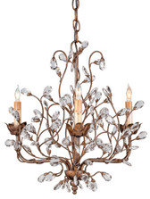 Currey & Company Crystal Bud Chandelier, Small