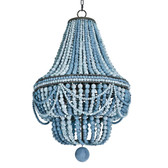 Redefine contemporary style with the Malibu Chandelier from Regina Andrew Design. With an artist's eye, their assortment skillfully mixes modern with rustic, elegant with casual, romantic with relaxed. They have an eclectic vision that resonates with natural style. Blue 20.5 W X 33.5 H X 20.5 D