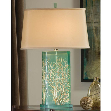 Regina Andrew Aqua Translucent Table Lamp