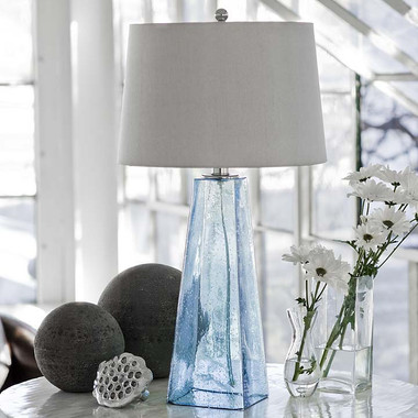 Regina Andrew Baha Blue Glass Table Lamp