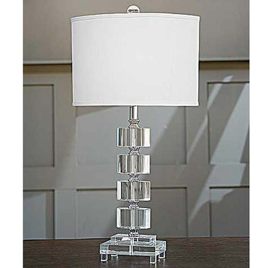 Regina Andrew Crystal Segmented Oval Table Lamp