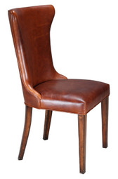 A beautiful cognac leather chair.