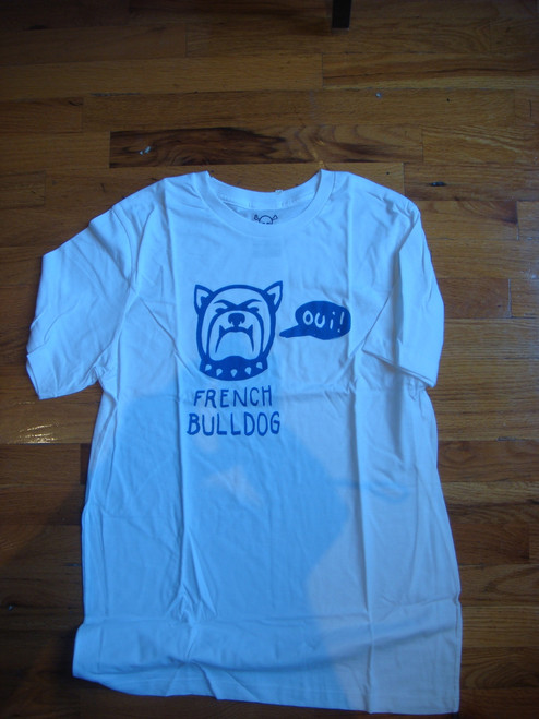 Lust For Life - Graphic Bulldog Tee - White - L