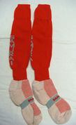 Samurai Branded Socks - Red/White