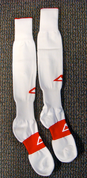 AthletiCorp Pro Rugby Socks - White/Red