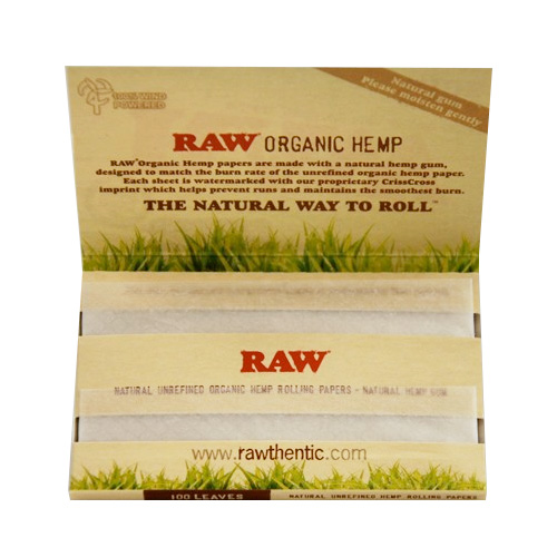 Booklet of 100 RAW Organic Hemp Rolling Papers