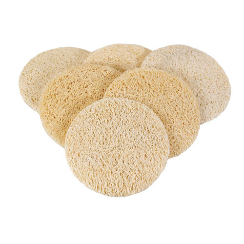 Round Friction Disc : Ultra exfoliating loofah rounds jade and pearl