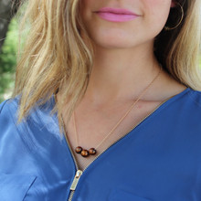 3 Pearl Necklace - Add strength and substance to the classic pearl necklace. Gold filled chain 20 inches. Pearls