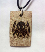 Tribal Cthulhu Coconut Shell pendant