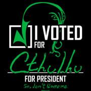 I Voted For Cthulhu for President shirt