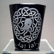 Cthulhu Celtic Knot black shot glass