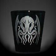 Tribal Cthulhu black shot glass