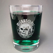 Miskatonic Cocktail Club tumbler glass