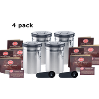Coffee Vault - 16oz - 4-pack - Coffee Storage Canister