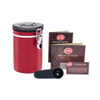 Coffee Vault - Red 16oz - Coffee Storage Canister - Stainless Steel