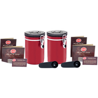 Coffee Vault - Red 16oz - 2-pack - Coffee Storage Canister