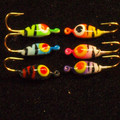 6 pc set of #10 Bigeye Striper teardrop jigs