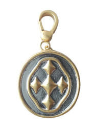 "1 1/2"" Shield of Faith Charm- Matte Gold and Silver Finish"