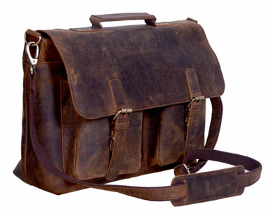retro twin pocket design made from finest buffalo leather
