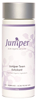 Teen Exfoliant 100g. A gentle exfoliant which contains free flowing micro-spheres of jojobabeads that are non abrasive to overactive sebum glands and effectively remove dull dead skin cells.  Ingredients: Purified Water; Natural Jojoba Wax Beads; Emulsifying Wax; *Jojoba Oil; *Glycerine; *Grapefruit Seed, *Calendula, Wattleseed, *Nettle and *Witch Hazel Extracts; Vitamin E (Natural); Rosemary Extract CO2; *Sandalwood, *Geranium, *Thyme and *Lemon Essential Oils  Directions: Use three times a week, by massaging a generous amount onto the face and neck for 2 minutes then remove with warm water. Ideal to use in the shower.