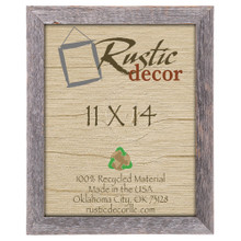 11x14 Rustic Reclaimed Barn Wood Standard Wall Frame