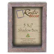 5x7 Barn Wood Collectible Shadow Box