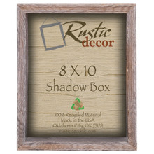 8x10 Barn Wood Collectible Shadow Box