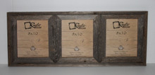 8x10 Rustic Reclaimed Barn Wood Triple Opening Frame