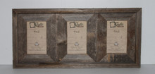 4x6 Rustic Reclaimed Barn Wood Triple Opening Frame