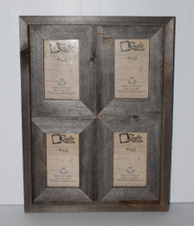 Rustic Barn Wood Window Frame (Holds 4x6 Pictures)