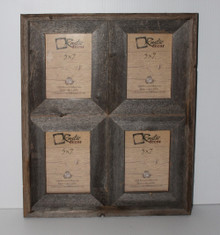 Rustic Barn Wood Window Frame (Holds 5x7 Pictures)
