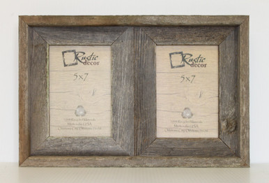 5x7 rustic reclaimed barn wood double opening frame image 1