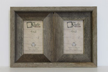 4x6 Rustic Reclaimed Barn Wood Double Opening Frame