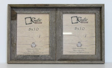 8x10 Rustic Reclaimed Barn Wood Double Opening Frame