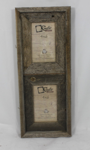 4x6 Rustic Reclaimed Barn Wood Vertical Double Opening Frame ...