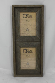 5x7 Rustic Reclaimed Barn Wood Verical Double Opening Frame