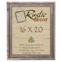 16x20 Rustic Reclaimed Barn Wood Signature Wall Frame