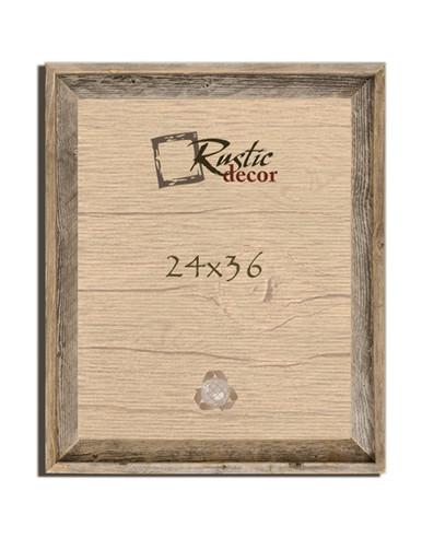 24x36 Rustic Reclaimed Barn Wood Signature Wall Frame - Rustic Decor