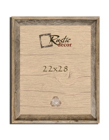 22x28 Rustic Reclaimed Barn Wood Signature Wall Frame