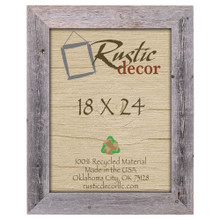 18x24 Rustic Reclaimed Barn Wood Extra Wide Wall Frame